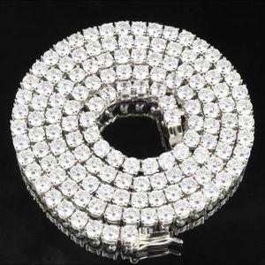 Other - Premium Tennis Chain White Gold/ Silver 4mm💎